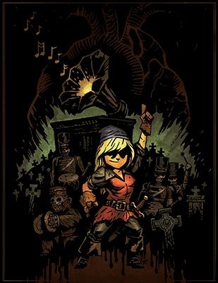Арт, стилизованный под Darkest Dungeon
